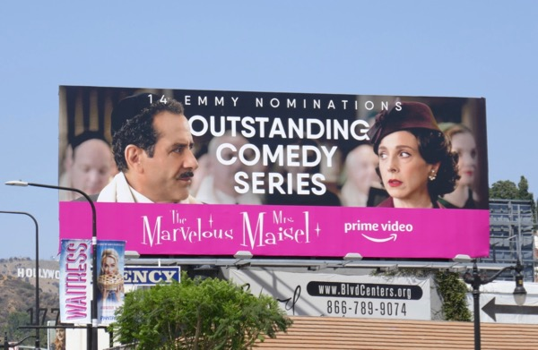 Mrs Maisel 2018 Emmy nominee billboard