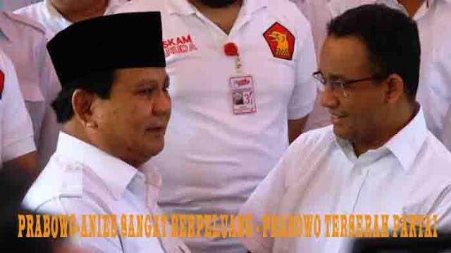 Prabowo-Anies Sangat Berpeluang - Prabowo Terserah Partai