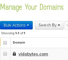 Administrar dominio name