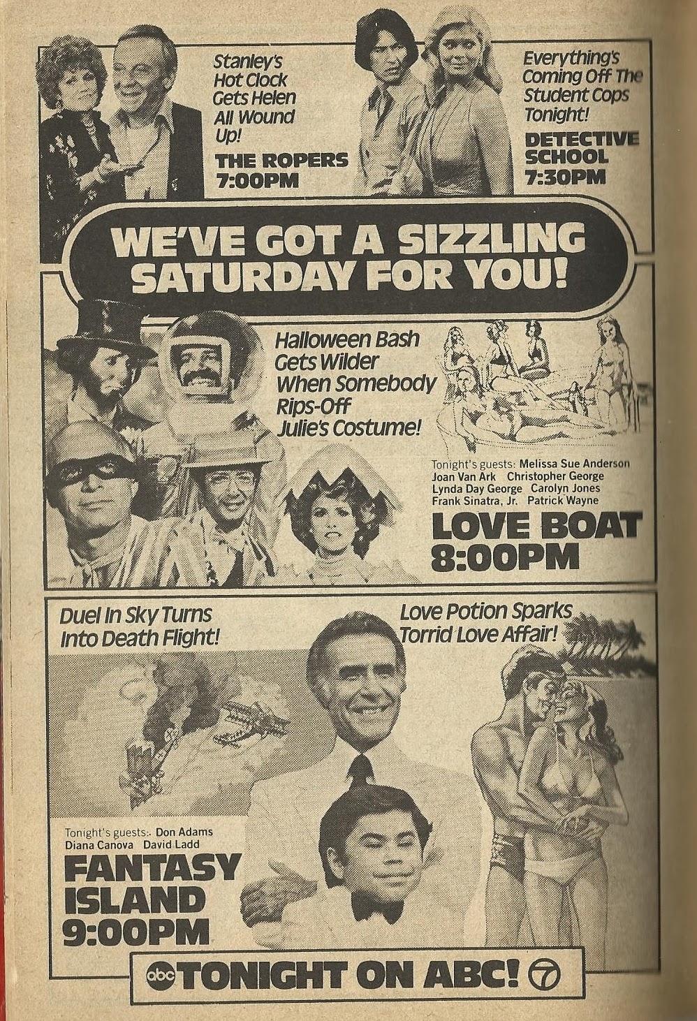 The tv guide historian: abc saturday night lineup ad.