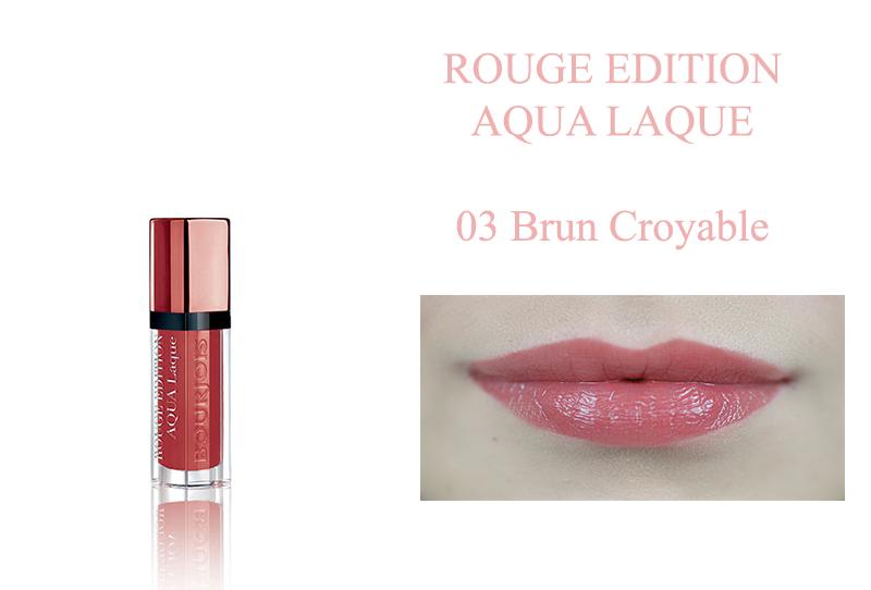 Bourjois Rouge Edition Aqua Laque 03 Brun Croyble