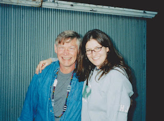 photo of author and her father