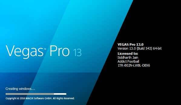 sony vegas pro 9 serial number and authentication code