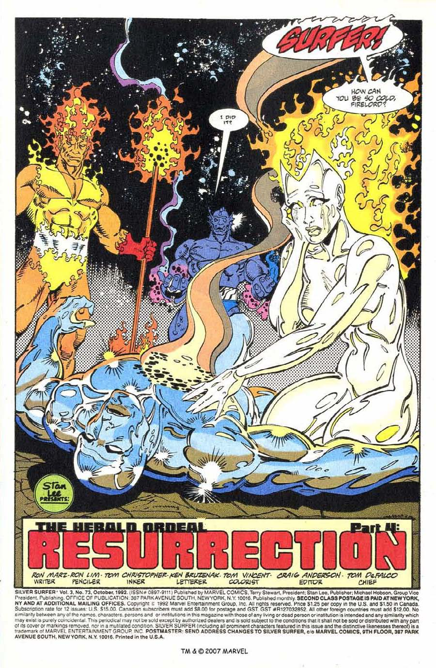 Read online Silver Surfer (1987) comic -  Issue #73 - 3