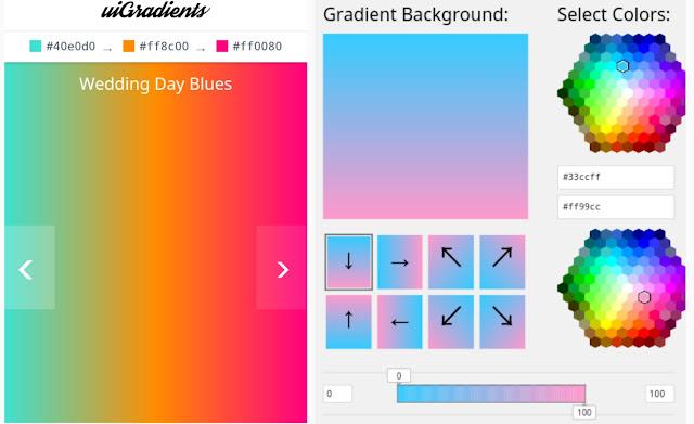 Kumpulan Tool Color Gradients Online Untuk Memberi Warna Navigasi Tema Blog