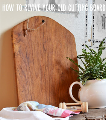 how to refinish a wooden cutting board