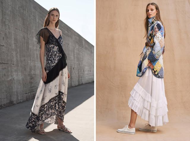 Длинное летнее платье и жакет в стиле пэчворк