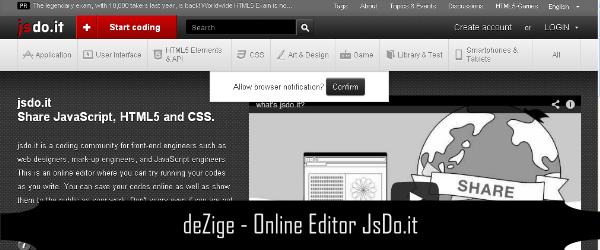 Online Editor CSS HTML Javascript 5