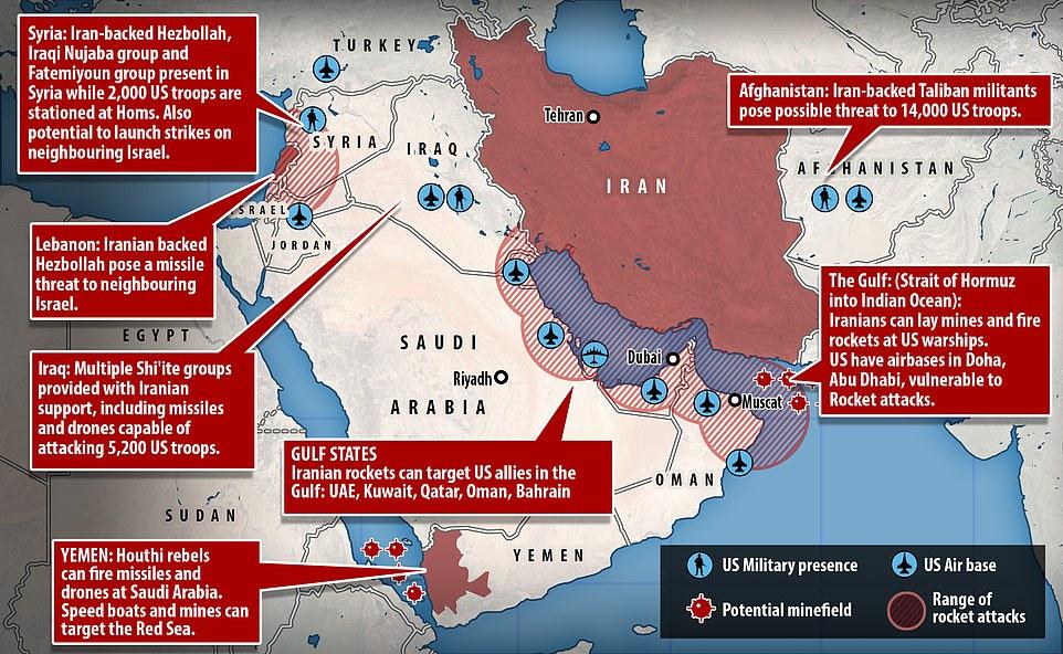 Иран угрожает мирным американским военным базам в регионе