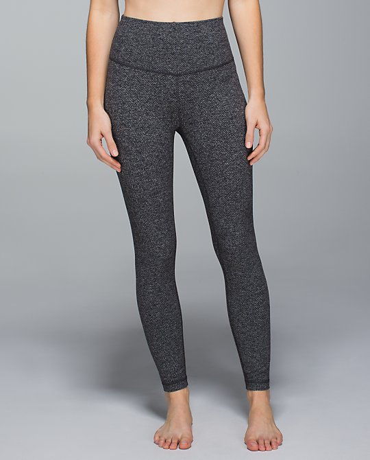 lululemon high rise herringbone