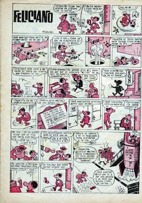 Primera página de Feliciano, Pulgarcito nº 1810 (1966)