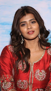 Actress Heba Patel Latest Stills in Red Dress at Mister Movie Trailer Launch Event  0005.jpg