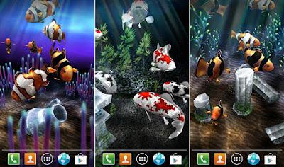 Tampilan Aplikasi My 3D Fish II