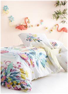 Lile Aux Fleurs Catimini. Funda nórdica y juego de sábanas