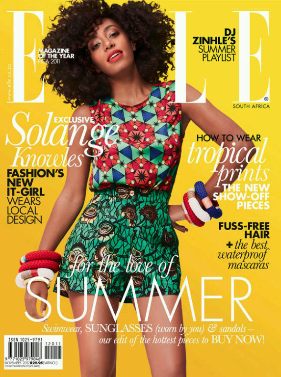 Solange Knowles African Style Colourful Pattern Mixes