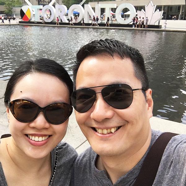 Selfie with Toronto sign