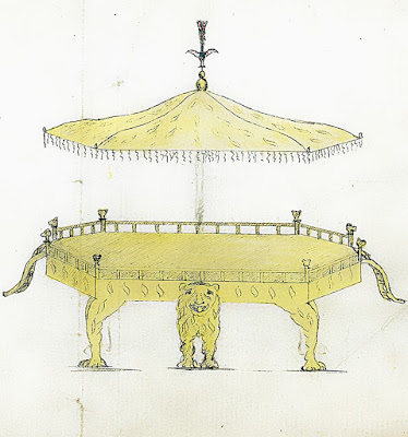 a-drawing-of-tipu-sultan's-throne