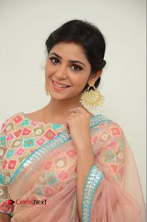 Actress Priyanka Bharadwaj Pictures in Saree at Mister 420 Press Meet  0006.JPG