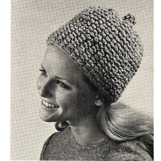 Puff Stitch Knitted Hat Pattern