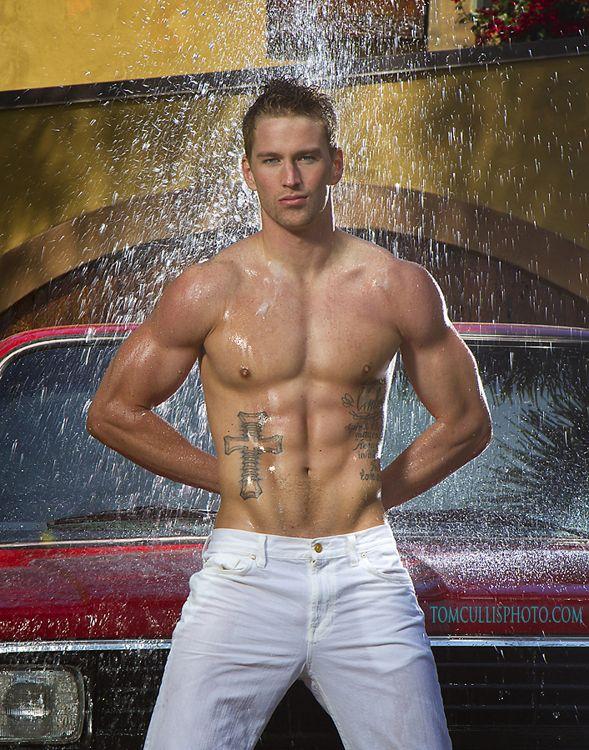 Wet male model