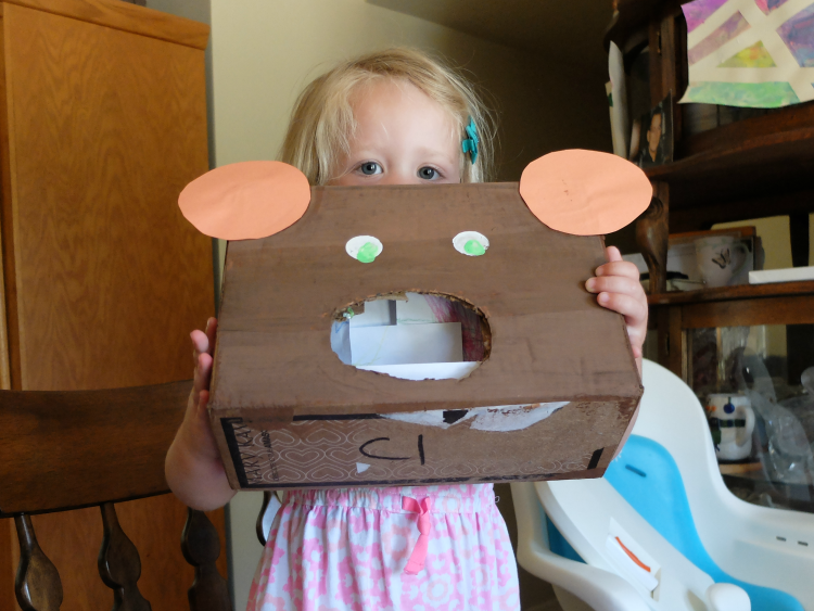 Feed the Bear box, kid crafts and activities