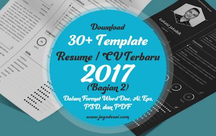 Download 30+ Template Resume (CV) Terbaru dan Terbaik 2017 Format Word (Bagian 2)