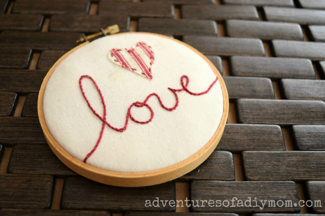 love embroidery using the stem stitch