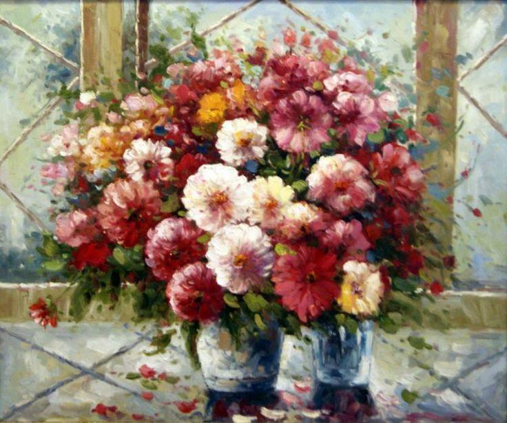 Pintura de Flores Vermelhas