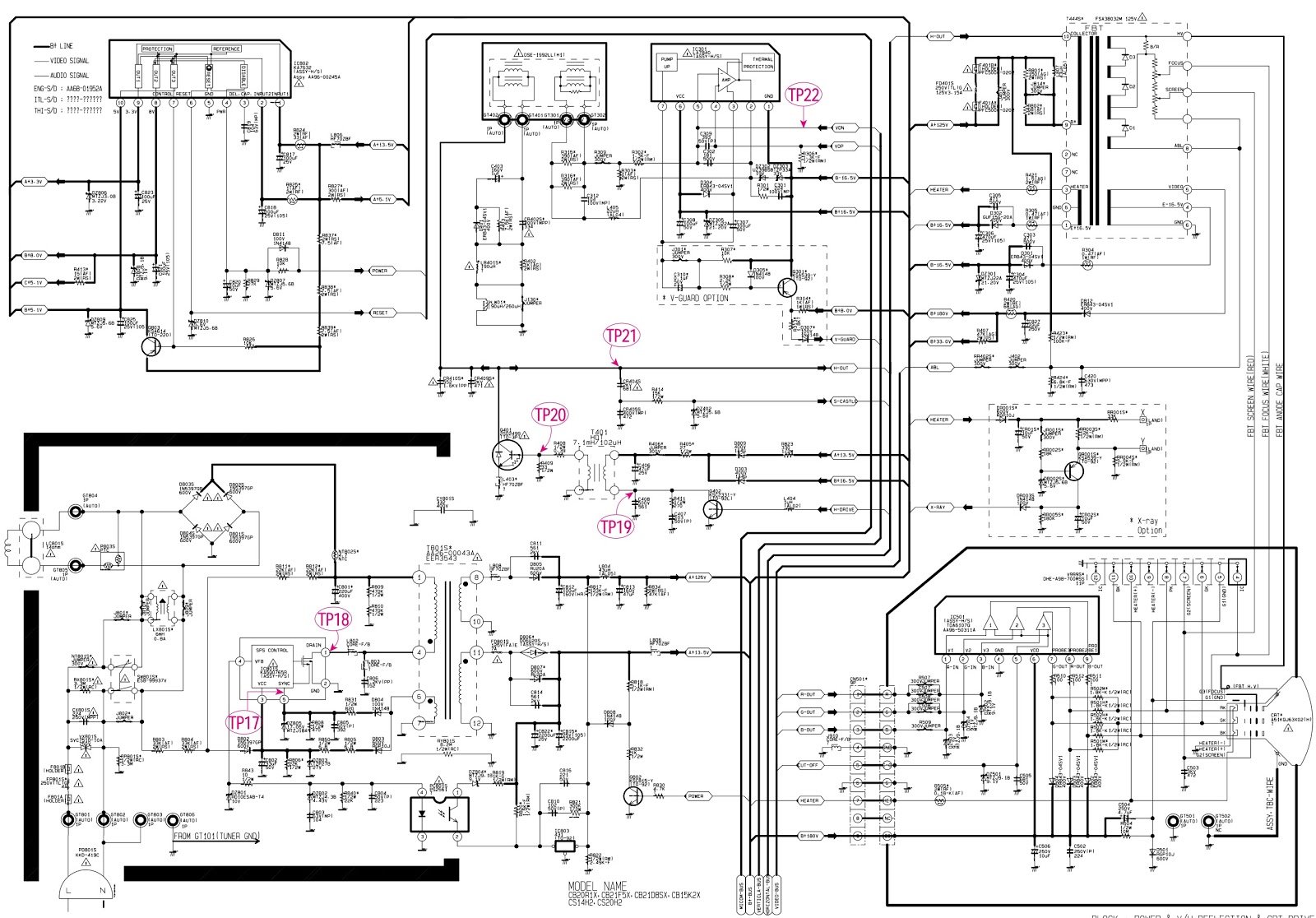 crt schematic diagram