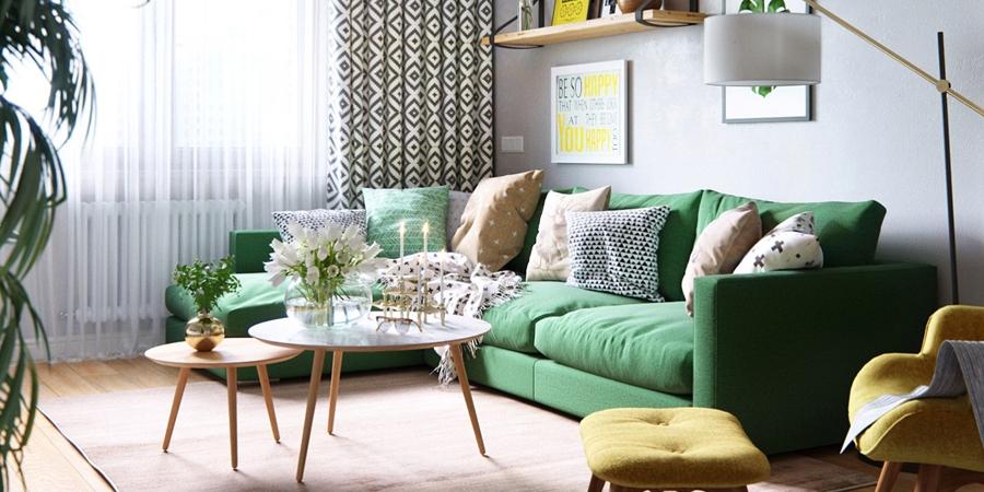 Stylowa aranżacja mieszkania z kolorowymi detalami - wystrój wnętrz, wnętrza, urządzanie mieszkania, dom, home decor, dekoracje, aranżacja wnętrz, minty inspirations, styl skandynawski, nowoczesne wnętrze, naturalne drewno, kolorowe akcenty, geometryczne wzory, stylowe wnętrze