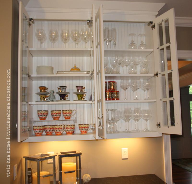 Kitchen Cabinet Inside: Vivid Hue Home: DIY: Painting Interior Kitchen Cabinets