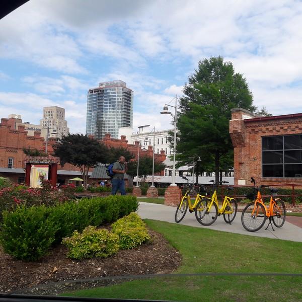Durham depuis l'American Tobacco campus