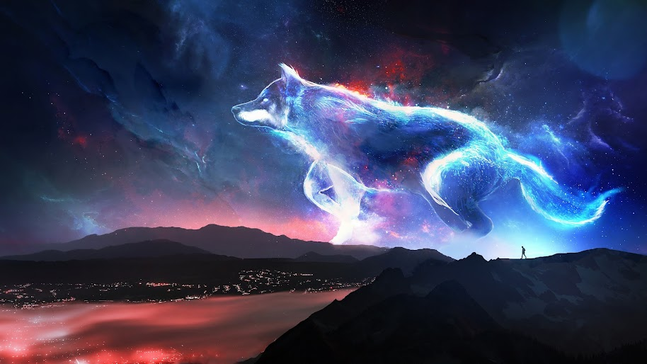 wolf fantasy art 61 4k