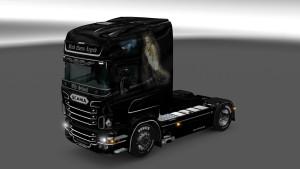Scania RJL Black Queen LegAlexandar Lone Wolfend skin mod