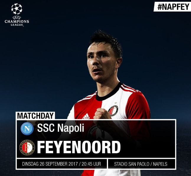 Dove vedere Napoli-Feyenoord Streaming VIDEO Diretta Online Gratis Champions League