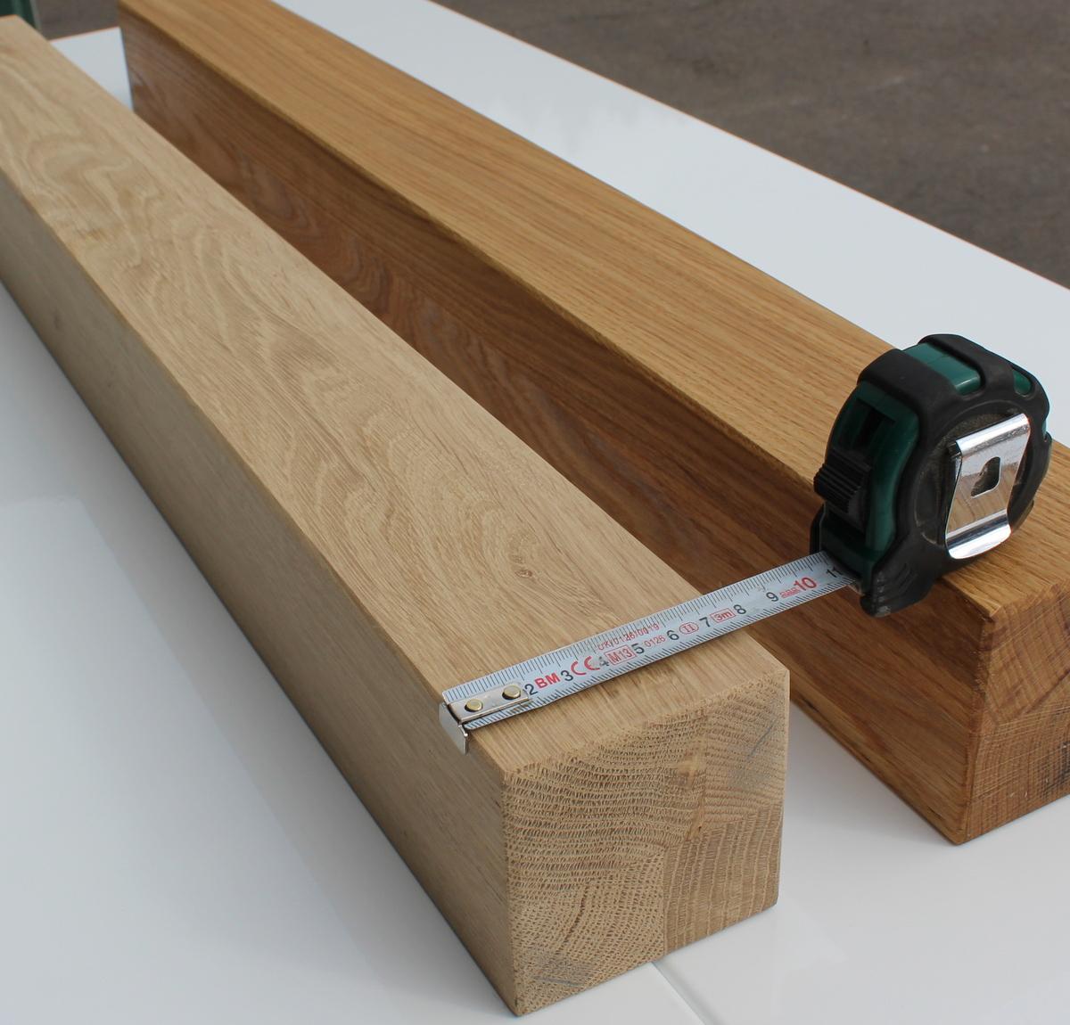 eiche tischbein kantholz massiv vierkantbeine m belfu 80x80mm holz ebay. Black Bedroom Furniture Sets. Home Design Ideas