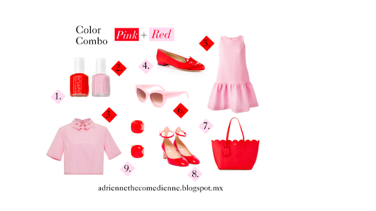 Favorite Color Combos: Pink + Red