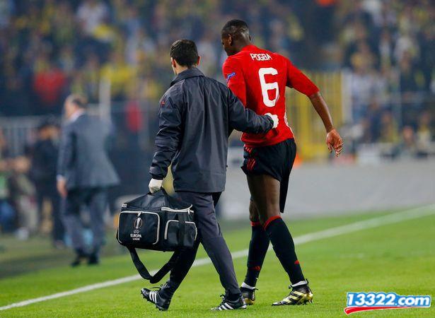 Pogba chấn thương ở Europa League tuần trước