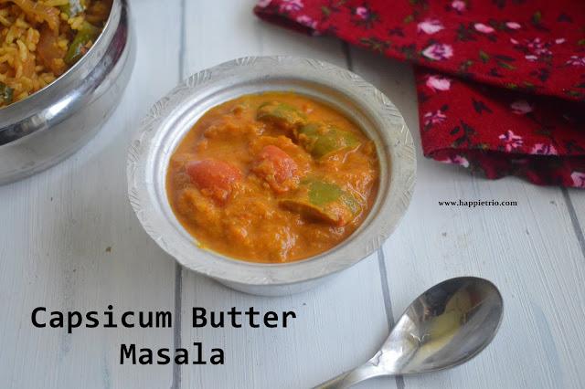 Capsicum Butter Masala Recipe | Capsicum Gravy