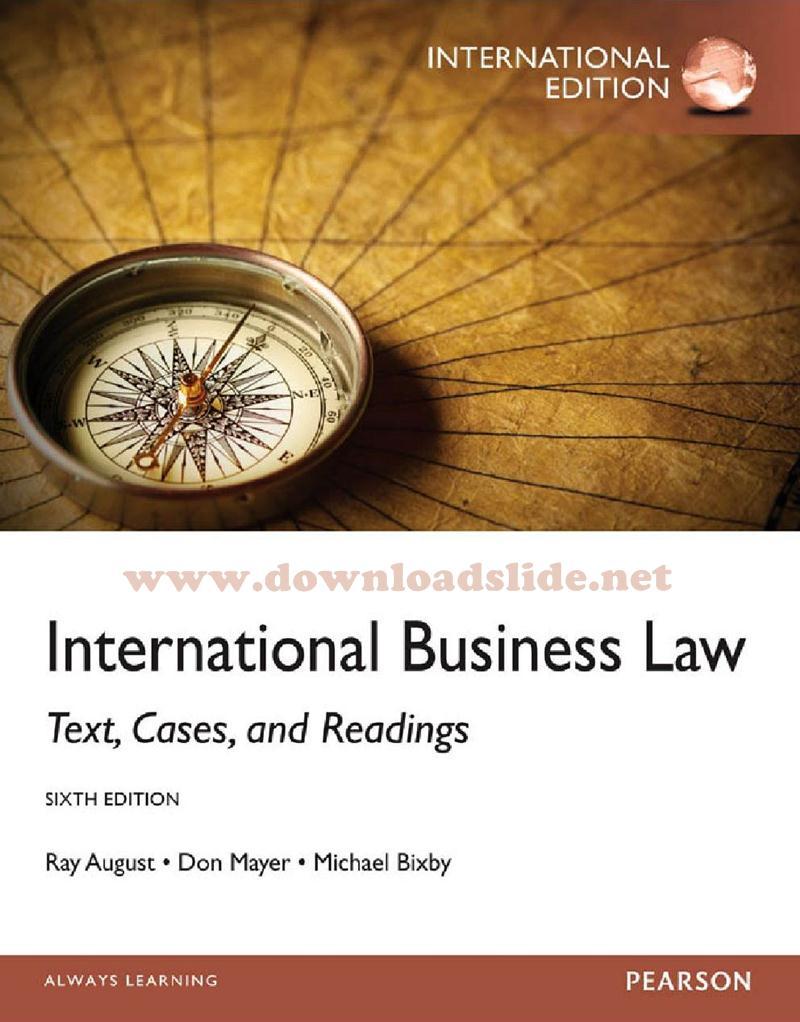 Ebook business law 9th edition by cheeseman downloadslide ebook international business law 6t fandeluxe Gallery