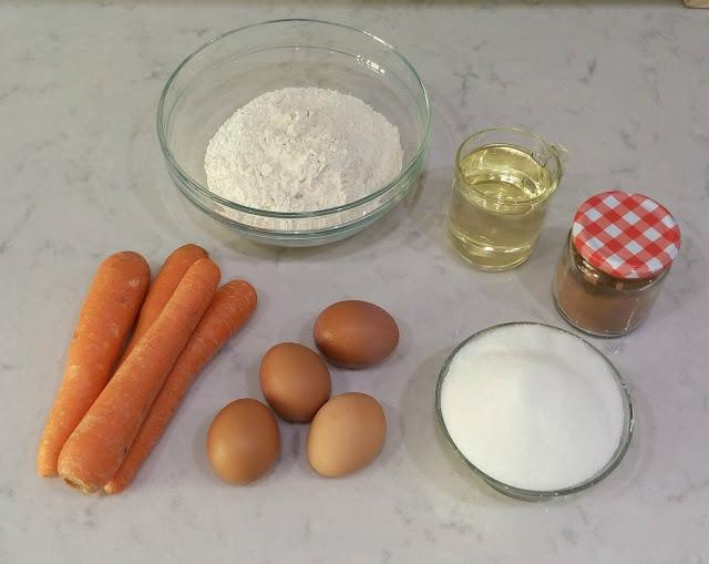 Ingredientes-bizcocho-de-zanahoria