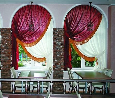 elegant arched window curtain designs