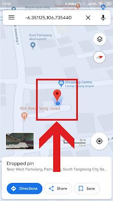 tahan tiga detik lokasi google maps