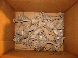 Bronze Frogs After Bronze Casting Need Chasing