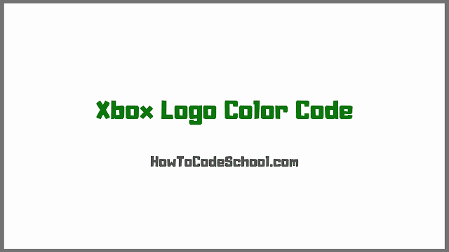 Xbox Logo Color Code