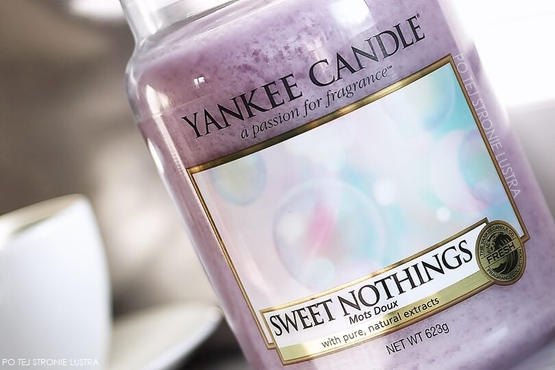 etykieta świecy yankee candle sweet nothings