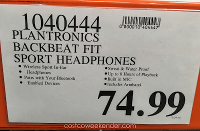 Deal for Plantronics BackBeat FIT Wireless Headphones at Costco
