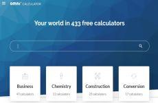 Onmi Calculator: sitio web con más de 400 calculadoras online para resolver todo tipo de problemas matemáticos