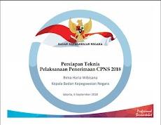 Persiapan Teknis Pelaksanaan Penerimaan CPNS 2018 - (Resmi 19 September 2018)