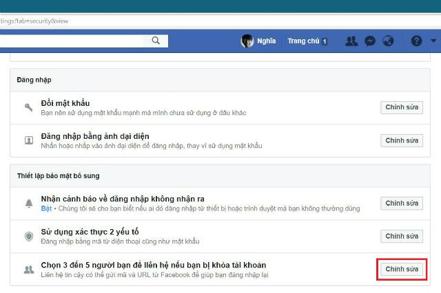 chống khóa facebook 2